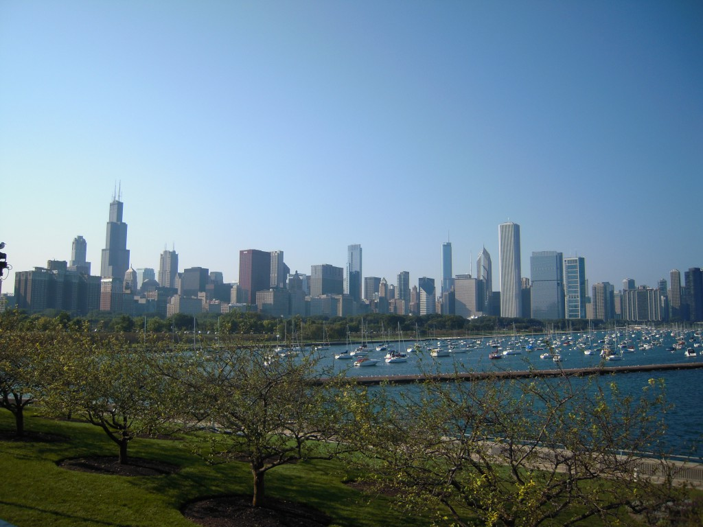 A nice shot of the Chicago skyline from over by the Shedd Aquarium. Sweet home Chicago. I grew up about 45 minutes away in the burbs so it always feels comfy going back to the windy city.