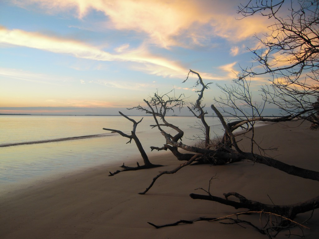 A gorgeous view as the sun starts to set at Jekyll Island, GA