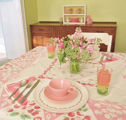 blog pink table setting april 2015