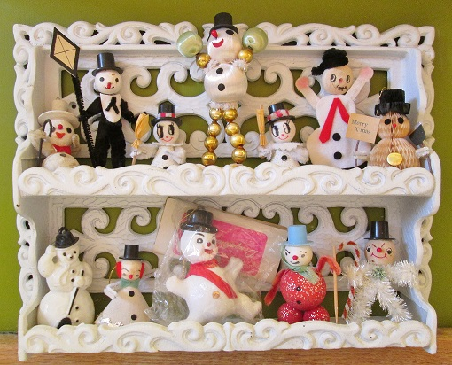 snowman holiday shelf blog