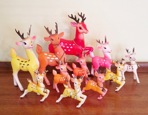 vintage colored deer blog