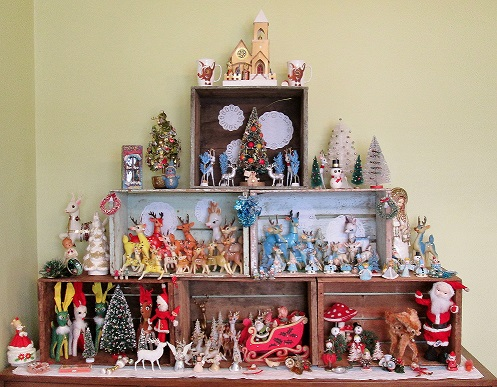 vintage holiday wall 2015 blog