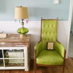 This vintage chair, and green and blue my fave!