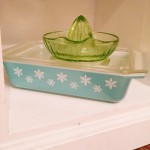 vintage pyrex and glass reamer