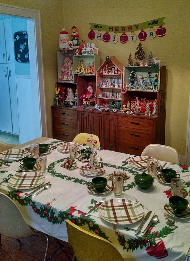 plaid christmas day table setting 2015
