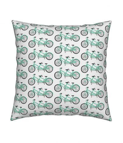 16x16 aqua tandem pillow